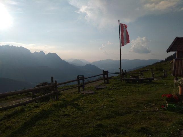 Výhled od chaty Stulhalm