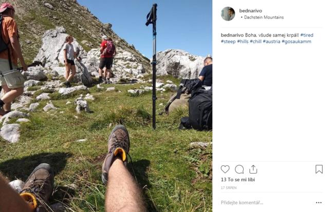 Instagramový příspěvek ze sedla Tor
