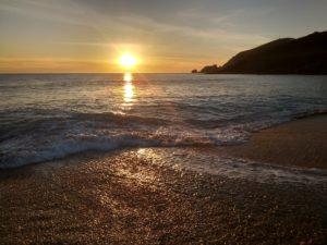 Západ slunce na pláži Mar de Fora